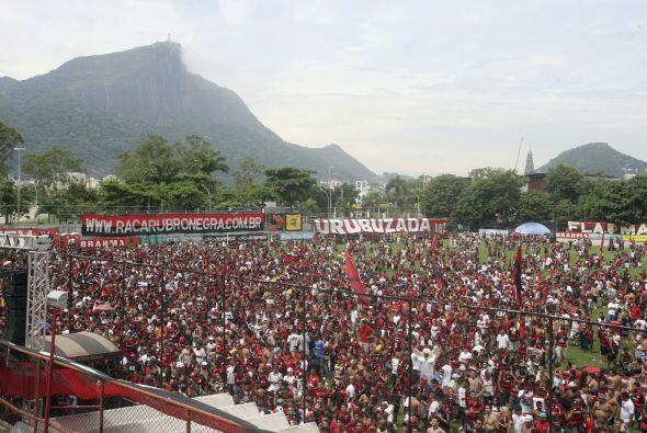 Imagen de Gavea, la cancha de entrenamiento del Flamengo en Río de Janei...