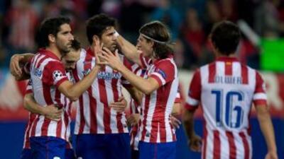 Diego Costa volvió a sumar un gol en la goleada del Atlético.
