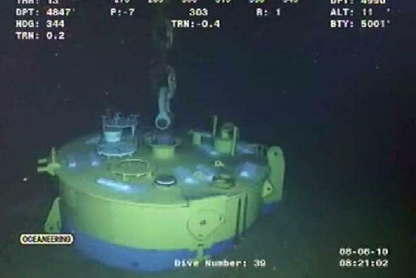 Los trabajos que buscan tapar para siempre el pozo petrolero submarino q...