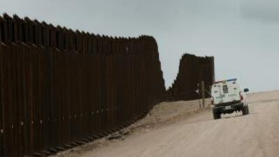 Muro que divide la frontera entre México y Estados Unidos.