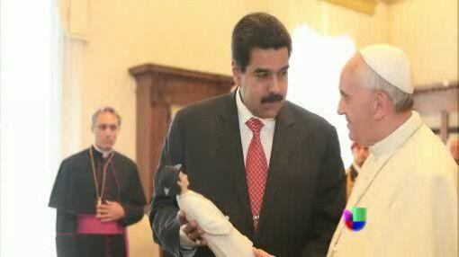 El 17 de julio el papa Francisco recibió a Nicolás Maduro, presidente de...