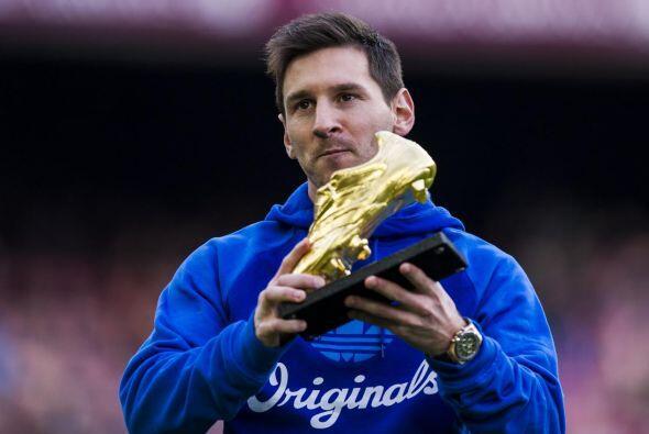 Messi se llevó su tercera Bota de Oro como máximo goleador de las ligas...