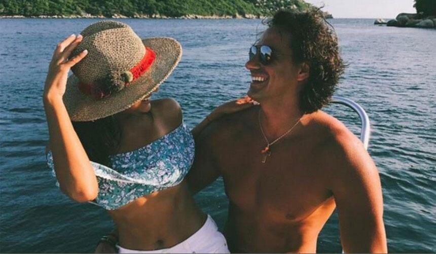 Renata Notni y su novio Andrés Rivero
