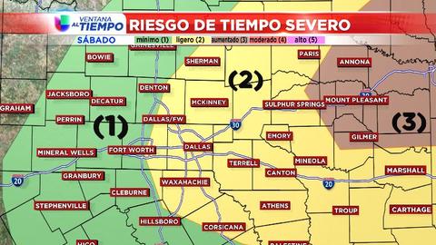 Podrían haber tornados el sábado en varias ciudades del no...