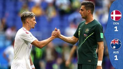 Australia y Dinamarca igualan en vibrante encuentro