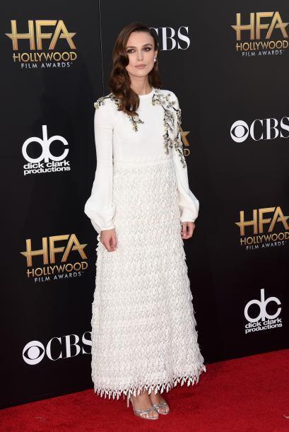 Keira Knightley una de las más elegantes de la noche.