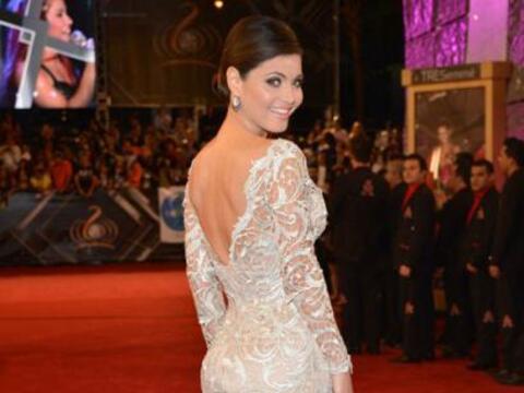 Chiquinquirá Delgado fabulosa en un vestido de Nicolás Fel...