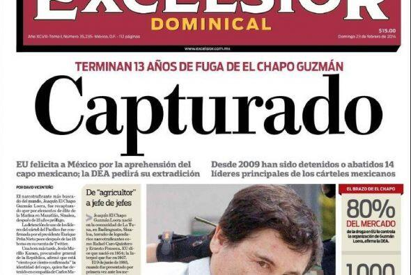 Este domingo, en las portadas de los diarios impresos, la foto de El Cha...
