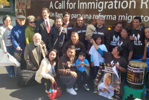 Activistas e inmigrantes se unieron a la gran carabana nacional por la r...