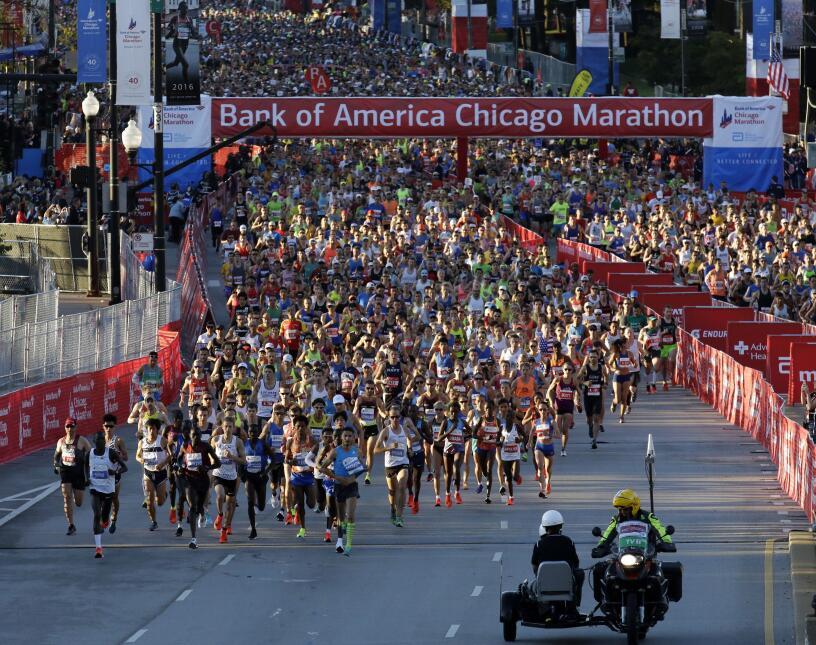 Las mejores fotos del maratón de Chicago 2017