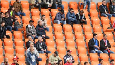 Tribunas vacías, el invitado no deseado en el partido entre Egipto y Uruguay en el Mundial