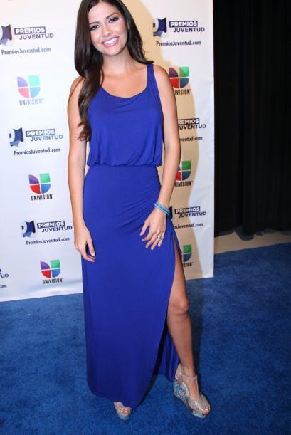 Ana Patricia González no le echó nada de ganas. Aunque el vestido no es...