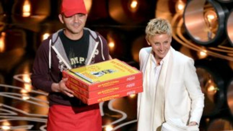 """Pizza en los premios """"scar"""