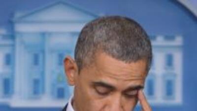 Obama derramó una lágrima por las víctimas de Connecticut