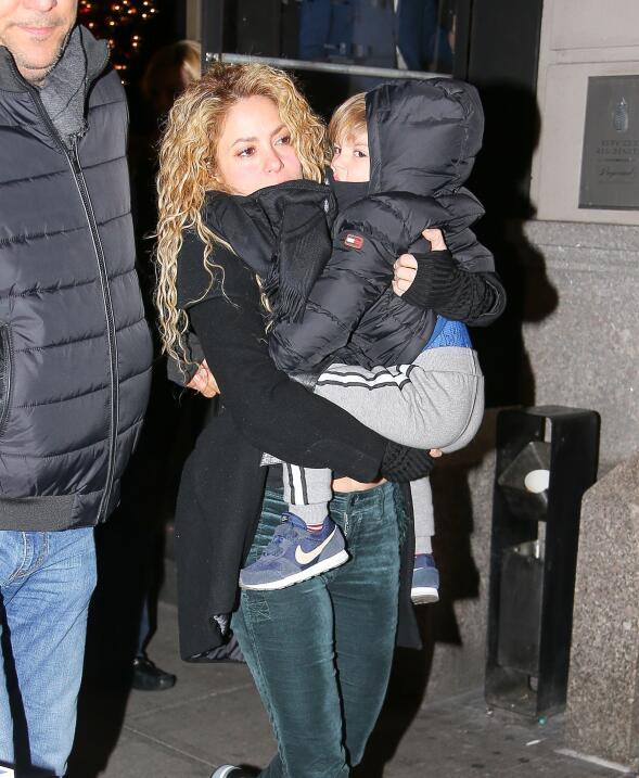 Shakira y su familia en Nueva York