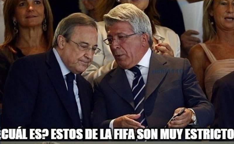 Memes del castigo a Madrid y Atlético