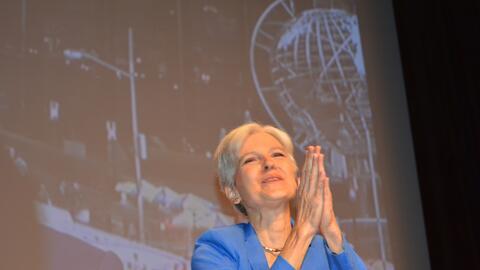 Jill Stein aceptando la nominación presidencial por el Partido Ve...