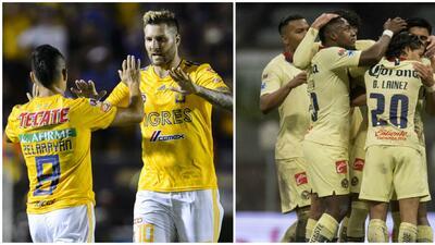 Las ventajas interinas que Tigres y América les tienen a sus rivales en el fútbol mexicano
