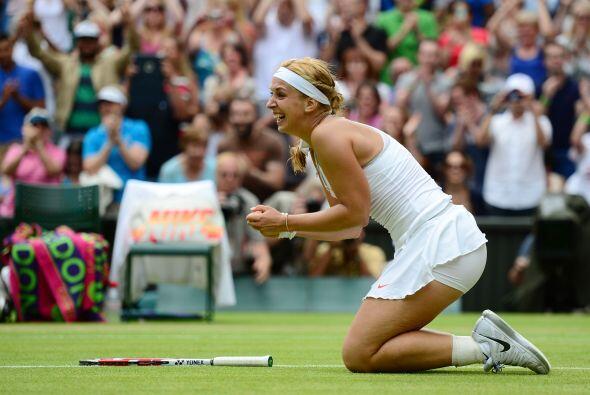 La alemana es una especialista en derrotar en Wimbledon a campeonas de R...