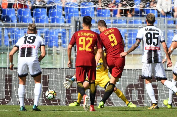 Fiesta y triunfo para la Roma tras vencer 3-1 al Udinese edin-dzeko.jpg