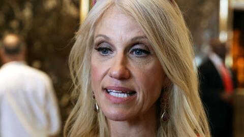 La exjefa de campaña y ahora asesora de Trump, Kellyanne Conway.