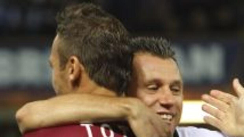 Totti mantiene una buena relación con 'Fantantonio', a quien si pudiera...