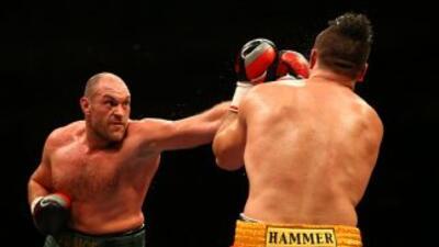 Tyson Fury noqueó a Christian Hammer