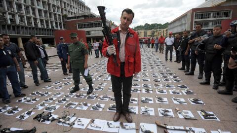 Tareck El Aissami fue ministro de Interior y Justicia de Hugo Chávez ent...