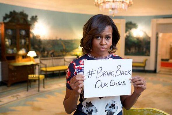 La esposa del presidente Obama fue una de las primeras en unirse a la ca...