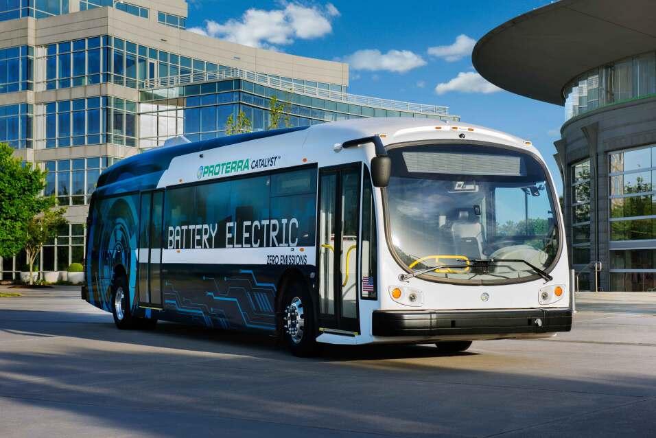 Los buses eléctricos de Proterra ya están dando vueltas po...