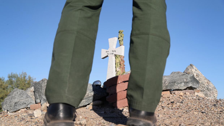 En fotos: Cómo se ve en la actualidad el muro fronterizo GettyImages-624...