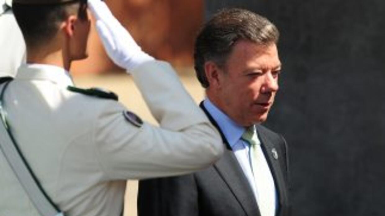 El presidente colombianoJuan Manuel Santos.