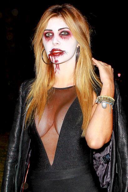 Brittny fue una de las que causó sensación con su atuendo de Halloween.