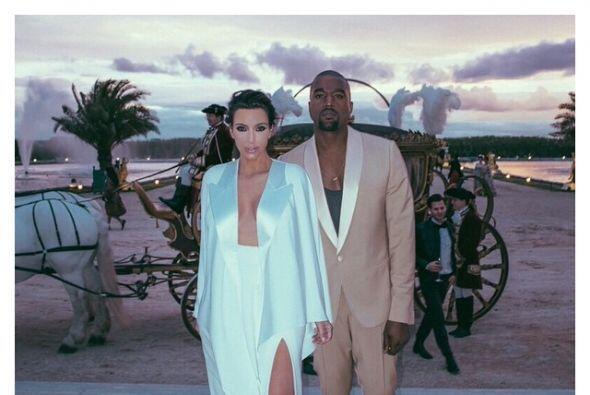 Las fotos más románticas de Kim y Kanye en la red.