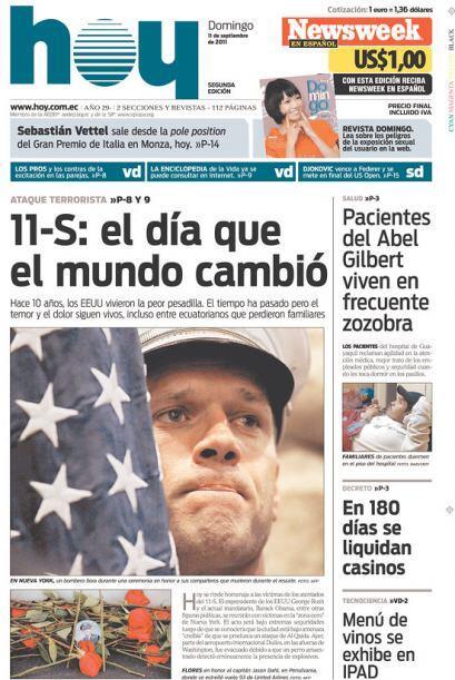 Cortesía del diario Hoy de Quito, vía Newseum.