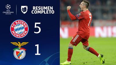 Bayern Munich 5-1 Benfica - GOLES Y RESUMEN - Grupo E - UEFA Champions League