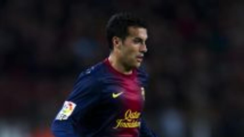 Pedro lamentó la derrota del Barcelona.