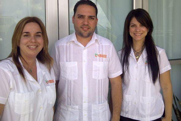 Francisco Aponte, Arleen Padua y Yanira Giliani  son directivos de INSEC...