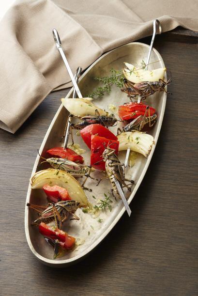 O estos deliciosos 'Pinchos de insectos'.