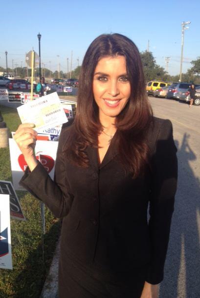Lizzet voto por primera vez