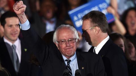 Sanders: mis padres nunca soñaron que yo sería un candidato a la preside...