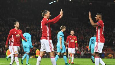 Manchester United goleó 4-0 al Feyenoord y sigue vivo en Europa League