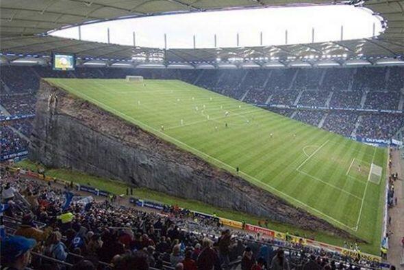 Así parecía verse la cancha. Todo sobre el Mundial de Brasil 2014.