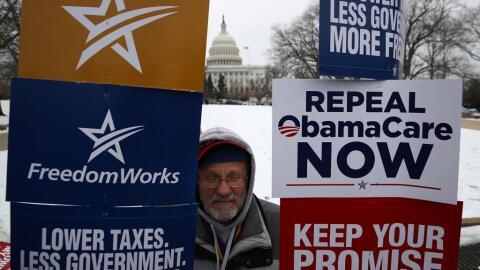 Manifestación conservadora en contra del proyecto republicano, co...