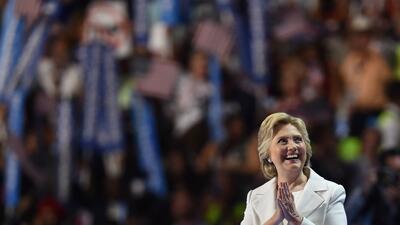 Diario de estilo: Los blancos trajes de Hillary Clinton y Joyce Beaty marcaron el último día de Convención