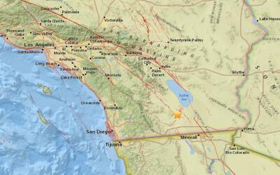 Un temblor de 3.3 sacudió la zona alrededor de Westmorland, Calif...