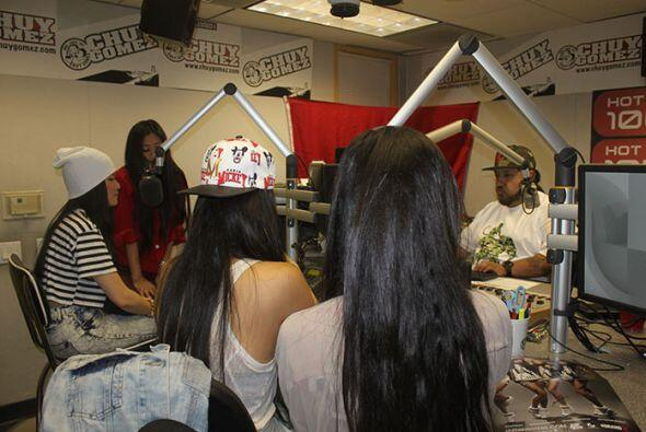 The Jazmin Sisters stopped by the Hot 105.7 studios to visit with Chuy G...