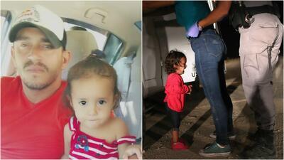 """Se me partió el alma al ver la foto"": padre de la niña que llora mientras arrestan a su madre"