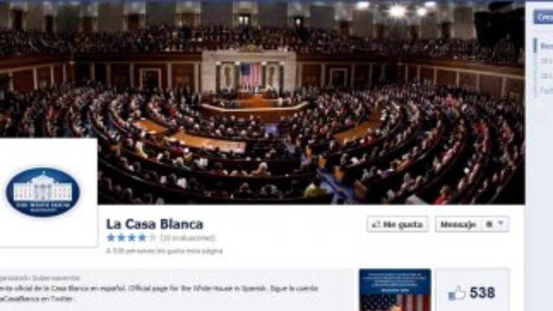 La Casa Blanca estrenó su perfil en Facebook en español.