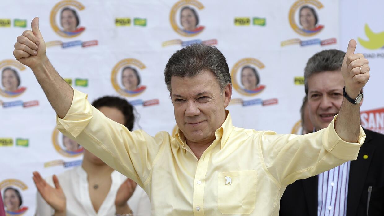 La campaña de reelección del presidente colombiano Juan Ma...